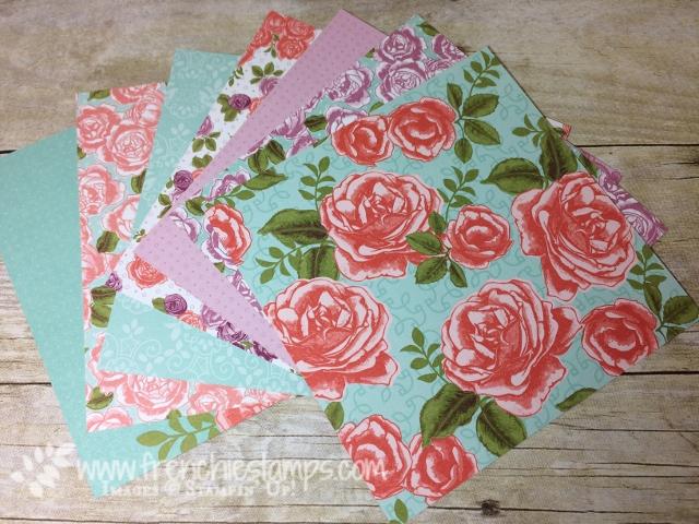 Petal garden designer series paper, stampin'Up!