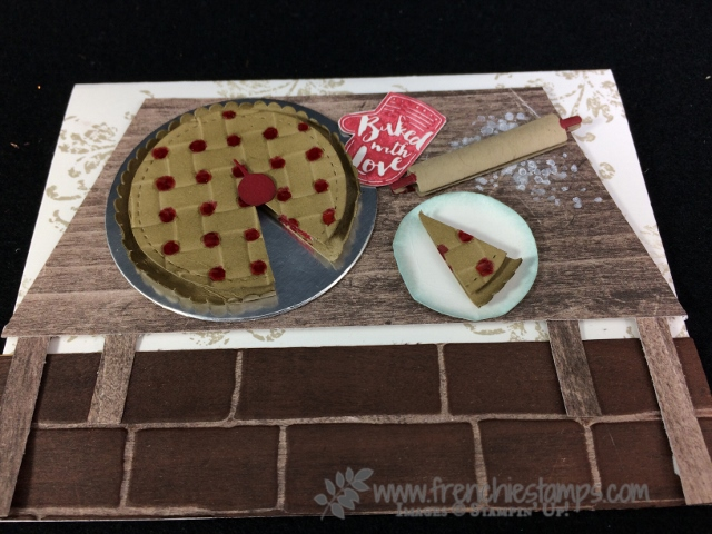 Basket Weave, Paper Cherry Pie, Apron Builder framelits, Stampin'Up!