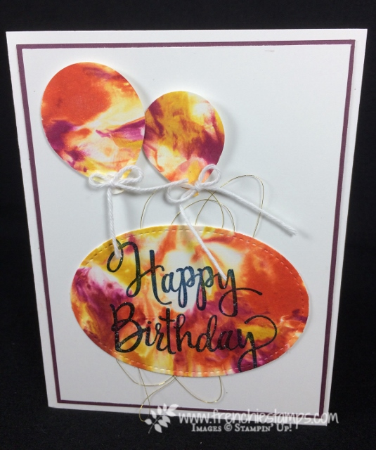 Shaving Cream Cards, Balloon Punch, Stampin Up!, Stylized Birthday