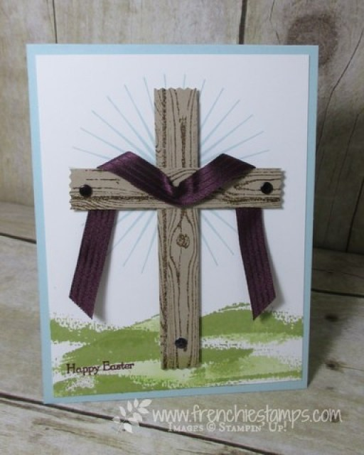 Easter Cross with Hardwood stamp