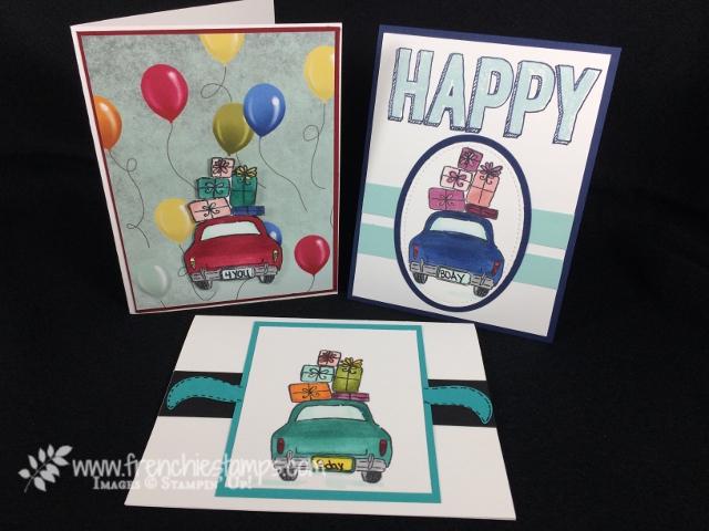 Wonderful Life, Birthday Cards, Blends, Happy Celebration, Frenchiestamps, Stampin'Up!, Birthday Memories Designer Series Paper,
