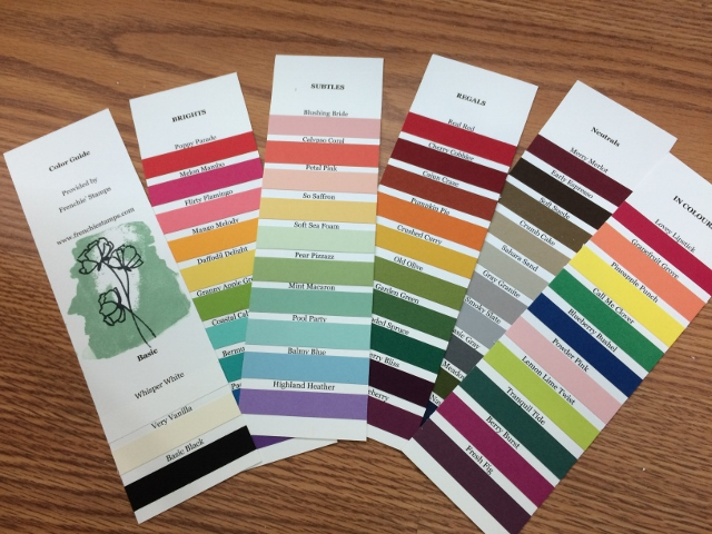 Stampin'Up! New Color Swatches for customer appreciation plus a download project sheets