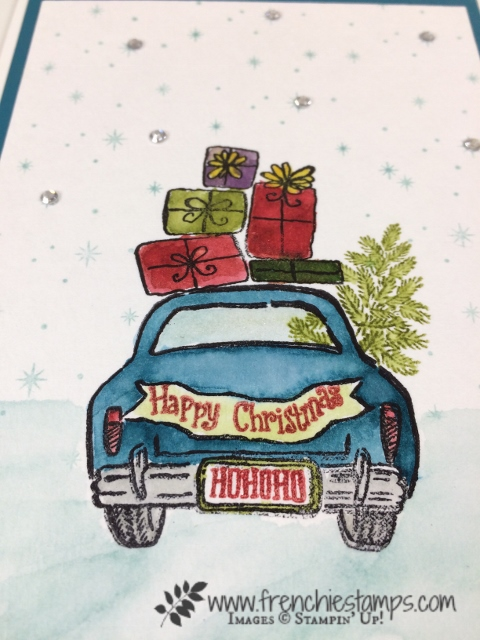 Wonderful Life, Night in Bethlehem, Watercolor, Stampin'Up!, Christmas Card