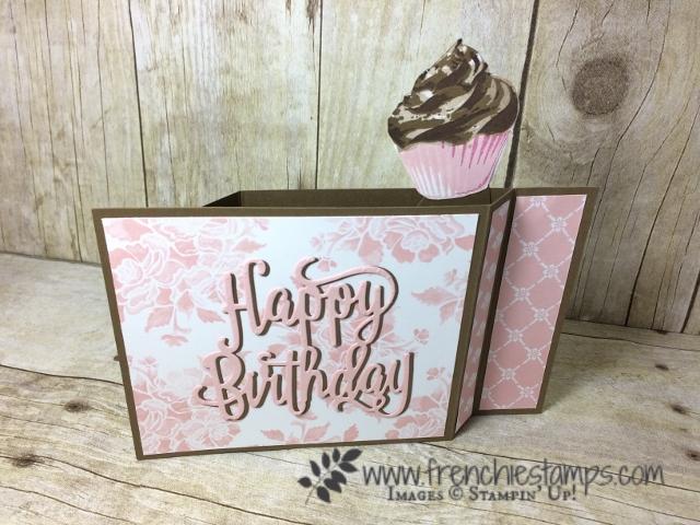 Stampin'Up! Wiper card, Sweet Cupcake, Better together, Fresh Floral designer Paper