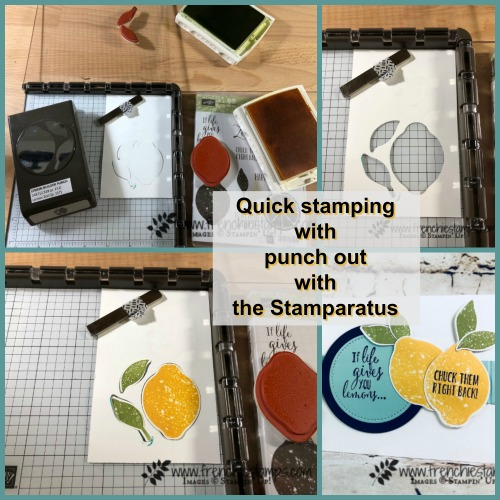 Tip for quick stamping punch out with the Stamparatus
