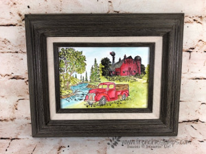 Watercolor Scenery Frame