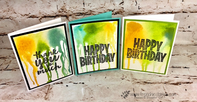 Technique Dripping Paint, Thankful Thoughts, One For All, Stampin'Up!, frenchiestamps,