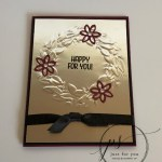 Seasonal Wreath Embossing on Foil, Free Printout, Frenchiestamps, Stampin