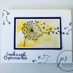 Dandelion Wishes, Plain and Simple Card, Stampin