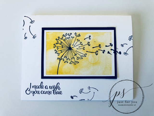 Dandelion Wishes, Plain and Simple Card, Stampin'Up!, Frenchiestamps,