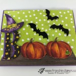 How to make a Boo card with Toil & Trouble designer paper. Not stamping involve in t his card all paper. All product are by Stampin