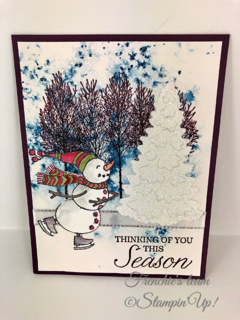 Cards created by Frenchie Teammates. All cards are using some of the new product in the Stampin'Up! Holiday 2018 Catalog. Product can be purchase at frenchiestamps.com