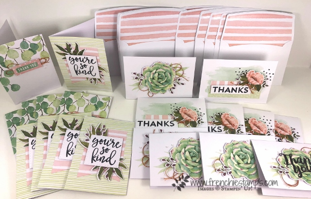 Notes f Kindness Card Kit by Stampin'Up! Can be purchase at frenchiestamps.com at discount price for the week of World card Making.