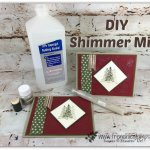 How to make shimmer mist with Alcohol and shimmer paint. I have the video for how to. Stamp set Timeless Tidings. Product by Stampin