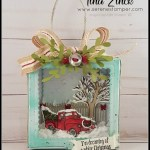Special guest on my blog to share how to make a beautiful Christmas Ornament. Using the pizza box and the Festive Farmhouse Christmas Ornament. All products by Stampin