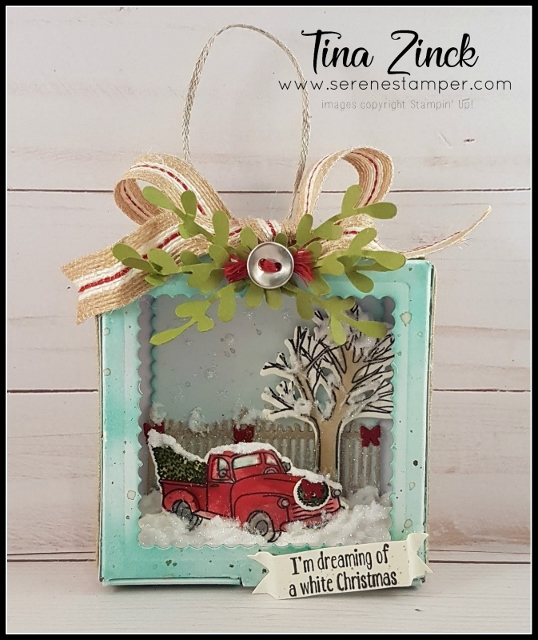 Festive Farmhouse Christmas Ornament by Tina