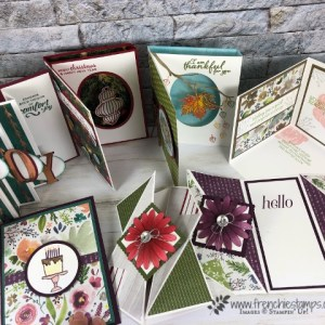 Wow Fold live class with Frenchie Stamps. All product by Stampin'Up! available at frenchiestamps.com