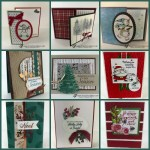 Christmas Swap with the leader group. All cards showcase products from Stampin
