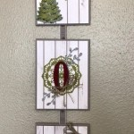 Joy Banner. Large Letter and Doillies. All product by Stampin