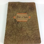 Faux Leather Note Book using Stampin