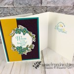 I made these lovely cards using the Floral Frames to welcome my new teammates. All detail to join us on my blog at frenchiestamps.com best deal is you get $175 of Stampin
