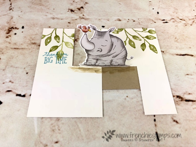 Animal Outing on the Impossible Card but I do it the easy way.  Die Cut Mirror Image. All Product from Stampin'Up! available at frenchiestamps.com