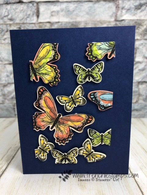 Floating Butterfly with Botanical Butterfly. All product by stampin' Up available at frenchiestamps.com