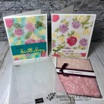Country Floral Embossing Folder with vellum. Color on vellum with ink, Stampin