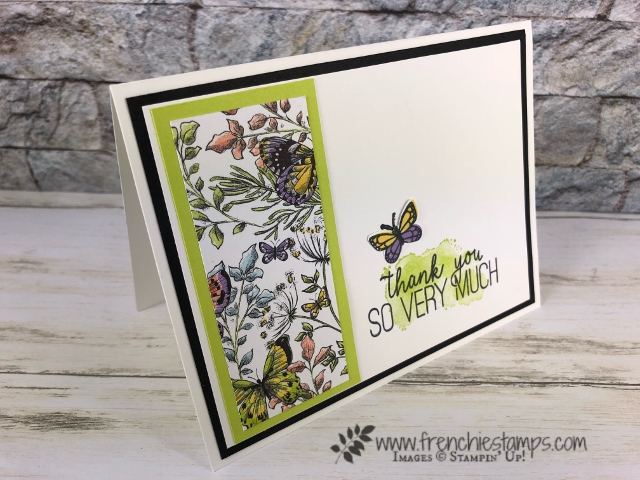 Tip with the Butterfly Gala stamp set and the Butterfly Duet punch. Botanical Butterfly Designer Series Paper part of Sale a Bration. All product by Stampin'Up! available at frenchiestamps.com