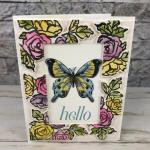 Floating Frame with the Petal and More Thinlits die. All supplies by Stampin