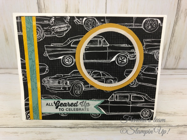Classic Garage Challenge with Frenchie's Team. All product by Stampin'Up! available at frenchiestamps.com