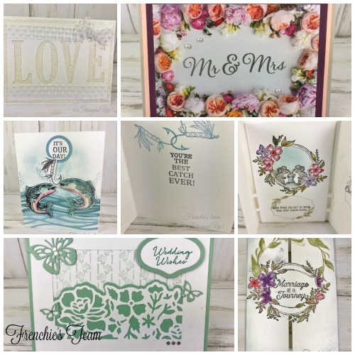Frenchie's Team been challenge to make wedding card and graduation card. Come check it a=out at frenchiestamp.com
