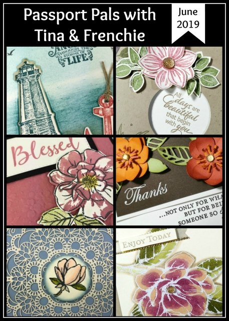 Frenchie's Customer Appreciation. Stamp set Good morning Magnolia, To a Wild Rose, Sailing Home and Floral Essence.  All product by Stampin'Up! available at frenchiestamps.com