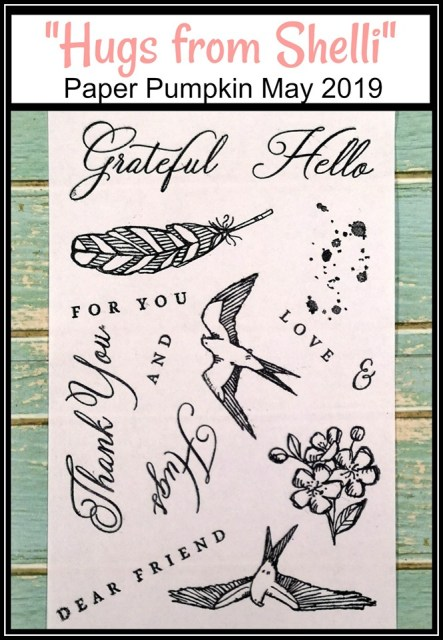 May 2019 Paper Pumpkin Hugs from Shelli Paper Pumpkin by Stampin'Up! detail at frenchiestamps.com