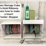 How to make a insert for the Open Storage Cube by Stampin