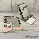 How to make a slider Pop Up Easel card. Using the Magnolia Memories and more card pack and the stamp set Good Morning Magnolia. All product by Stampin