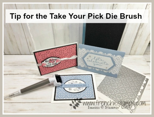 Tip For The Take Your Pick Die Brush with the Stitched Lace Die