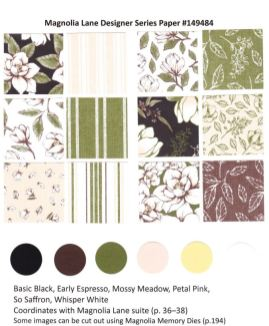 Magnolia Lane Designer Paper by Stampin'Up! chart available at frenchiestamps.com