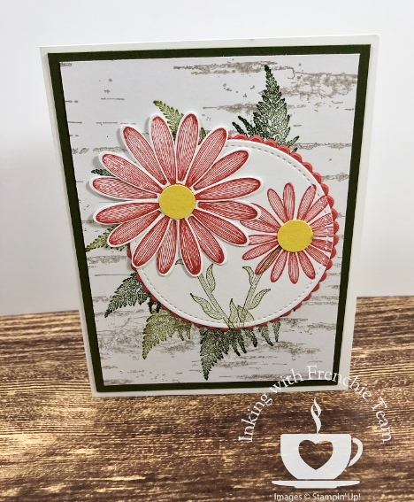 Swaps with Frenchie' Team. Stamp set Daisy Lane. All supplies by Stampin'Up! available at frenchiestamps.com