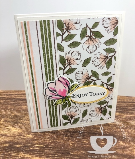 Swaps with Frenchie' Team. Stamp set Magnolia Lane. All supplies by Stampin'Up! available at frenchiestamps.com