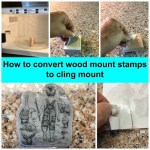 Learn how to convert wood mount stamps to cling mount. Product by Stampin