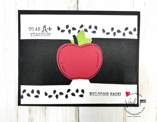 Harvest Hellos Card Showcase at Frenchie stamps. Harvest Hellos Bundle. The Bundle include the Apple Builder Punch.