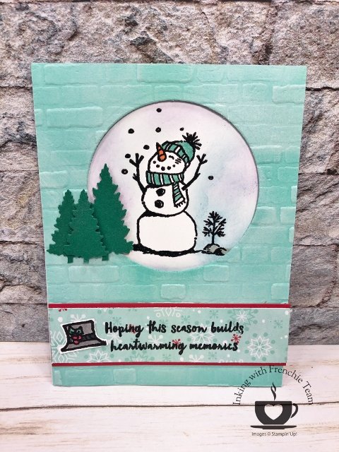 Snowman Season by Stampn'Up! showcase by Frenchie Teammates