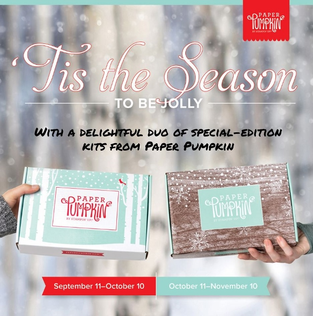 Subscribe now to Paper Pumpkin at frenchiestamps.com to receive the October and November Winter Wonder
