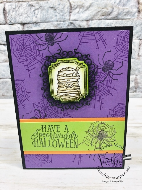 Spootacular Bash and Wonderful Wicked stamp set for a fun Halloween card.