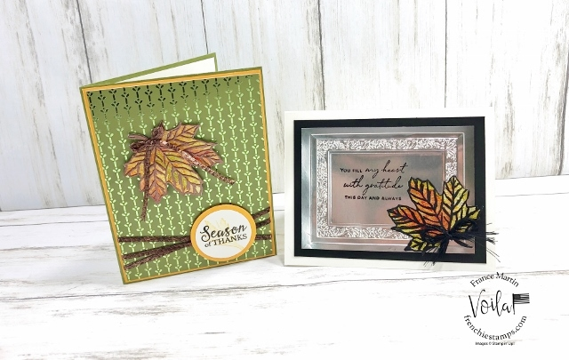 Fall Card with Stain Glass Foil Leaves