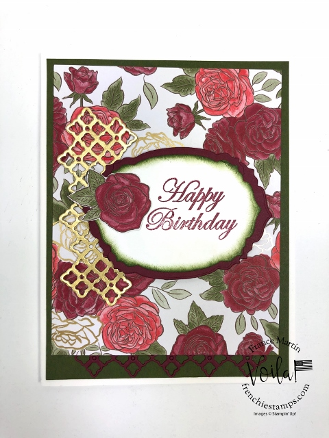 Christmastime Specialty Designer paper. Simple and quick card with designer paper.