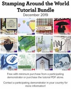 Stamping Around the World Tutorial Bundle. Free download with any size order at frenchiestamps.com