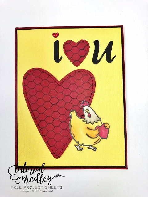 Birds of a Feathers wobble for Valentine card