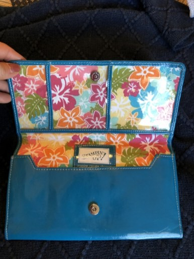 Blue Purse with wallet and travel pouch 30.00
